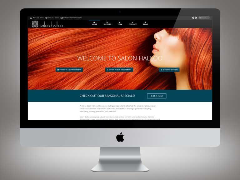 Salon Halloo Website
